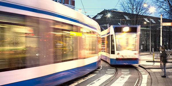 Trammenland - rijdende trams
