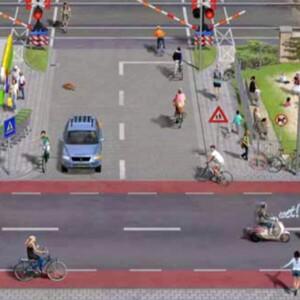 Verkeerssituatie in beeld bij lesmethode 'Wijzer in het Verkeer'