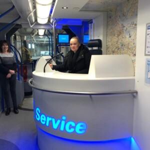 Servicedesk in tram