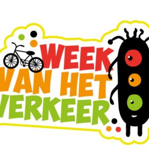 sticker van week van het verkeer